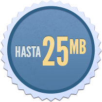 Up to 25Mb badge